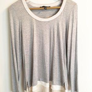 White House Black Market Tops - NWOT White House Black Market gray and silk blouse